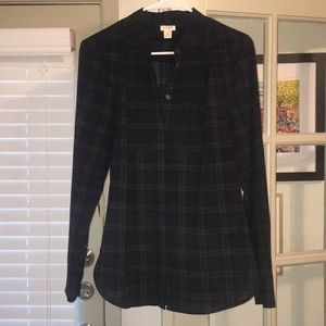 J. Crew plaid blouse